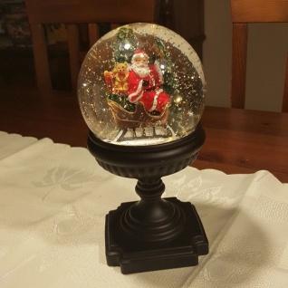 LED Schneekugel auf Sockel Weihnachtsmann wassergefüllt Peha PT-22130 xmas