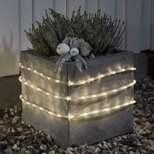 LED Lichtschlauch 18m warmweiß Batterie / Timer Konstsmide 3746-100