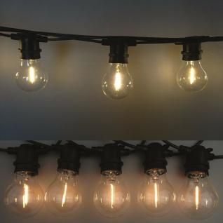 Party Filament Lichterkette 10er Birne klar-warmweiß 5m verlängerbar FHS 33378