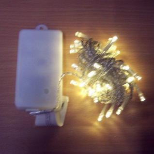 50er LED Lichterkette 4, 9m warmweiß Batterie / Timer außen BA11464 xmas