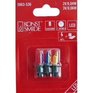 LED Ersatzbirnen für Innenlichterkette 10-140er bunt 3V 0, 06W 5063-530 xmas