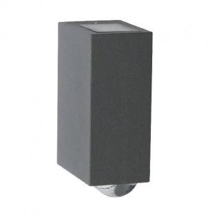 LED Alu Außenwandleuchte EVANS anthrazit 15, 5x6, 4x9, 7cm Lutec 1862-GR Eco-Light