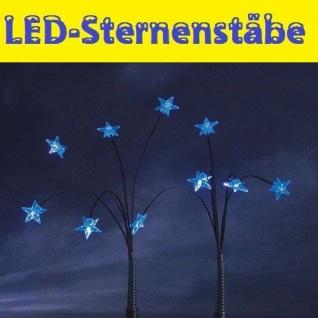 LED-Sternenstäbe blau 25er Leuchtstäbe außen Konstsmide 4053-400 xmas