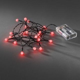 LED Globe-Lichterkette 20er Batterie Timer innen rot 1491-557 xmas