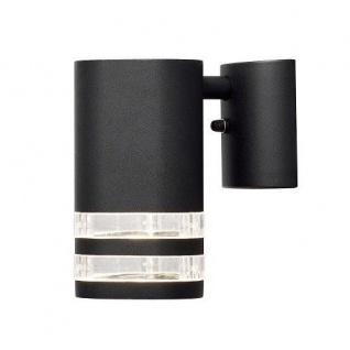 Alu Wandleuchte MODENA BIG schwarz außen Strahler Spot Konstsmide 7515-750