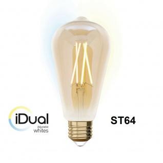 iDual LED Leuchtmittel Filament E27 ST64 amber dimmbar 806lm 9W exkl. FB Vintage