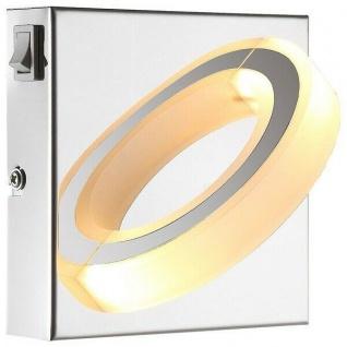 Globo LED Wandleuchte MANGUE 1-flammig 220lm 3000K chrom innen 67062-1
