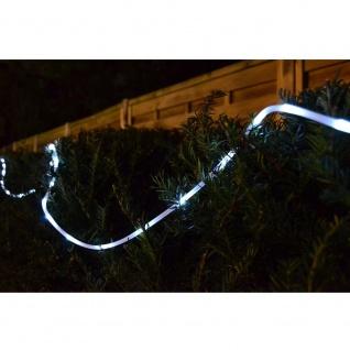 Solar LED Lichtschlauch Lichterschlauch 10m kaltweiß außen FHS 25533