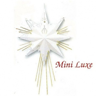 Weihnachtsstern Messingstern Mini Luxe weiß 37x25cm Best Season 797-48