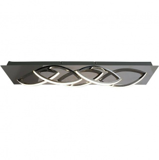 LED Deckenleuchte WAVE chrom 67, 5x14x10cm 1360lm 3000K 17W Näve 1228242