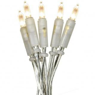 LED Mini-Lichterkette 20er warmweiß / transparent innen basteln P-LED 421-12-1