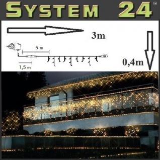 System 24 LED 49er Eisregen-Lichterkette inkl. Trafo warmweiß 492-72 außen xmas