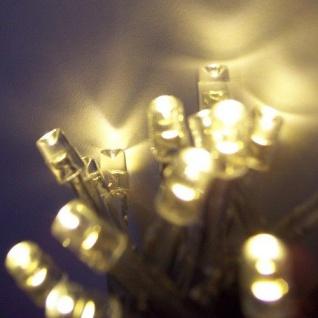 LED Lichterkette 100er warmweiß Kabel transparent 10m Timer aussen BA11692 xmas