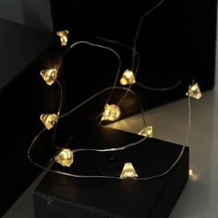 LED-Draht Lichterkette Diamant 12er warmweiß Batterie xmas deko 728-24