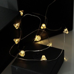 led draht lichterkette diamant 12er warmwei batterie xmas deko 728 24 kaufen bei wedis homeshop. Black Bedroom Furniture Sets. Home Design Ideas