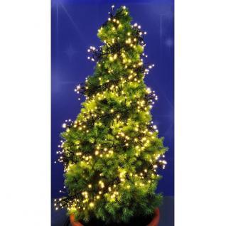 LED Cluster Lichterkette warmweiß 1152er 6, 9m Kabel grün außen HI 76608 xmas