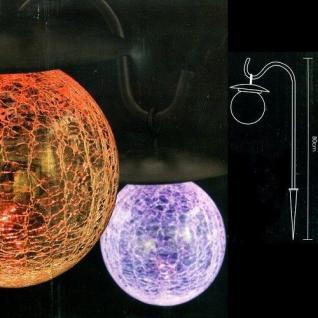 LED Solarleuchte Solarlampe Glaskugel RGB Farbwechsel außen JFS001C