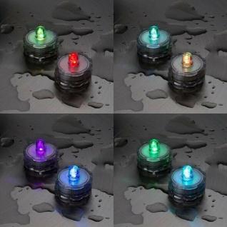 LED-Teelicht 2er Set RGB Farbwechsel Wasserdicht Batterie außen innen 06898