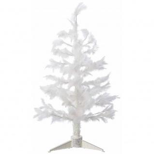 Weihnachtsbaum weiß Feder Fieberoptik Farbwechsel 80cm Baum innen JFF41