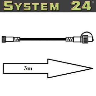 System 24 LED Verlängerungskabel 3m extra schwarz Best Season 490-31 außen xmas