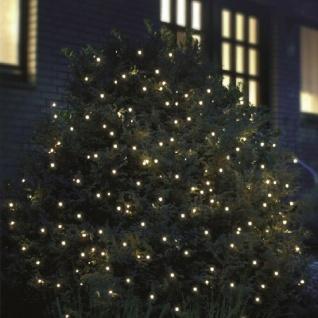 LED Lichternetz Lichtnetz 2x2m 160er kaltweiß-grün außen FHS 02855 xmas