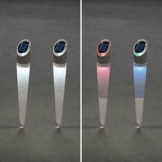 LED Solarleuchte Solarlampe ASSISI 2er Set warmweiß oder RGB Konstsmide 7810-000