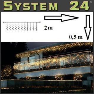 System 24 LED Lichtervorhang 98er extra 2x0, 5m warmweiß 491-91 außen xmas