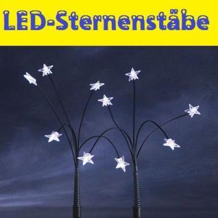 LED-Sternenstäbe Leuchtstäbe kaltweiß 25er außen Konstsmide 4053-200 xmas