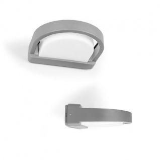 Alu Außenwandleuchte ORIGO silber E27 8, 3x27x25, 2cm UME 1849 SI Eco-Light