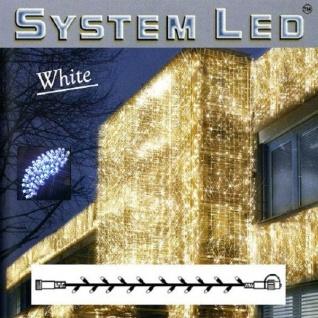 System LED Lichterkette Extra 3m 30er blau Kabel weiß Best Season 466-09-3