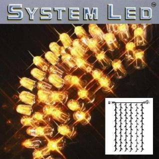 System LED Lichtervorhang 102er 1x2m amber - schwarz außen 465-50 xmas