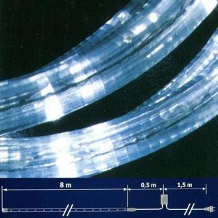 LED Lichtschlauch Lichterschlauch 8m Blinkfunktion weiß NLED08