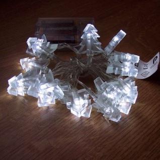 LED Lichterkette Tannenbaum weiß 20er Batteriebetrieb BI11563-1