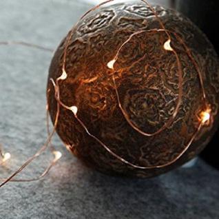 LED-Draht Lichterkette Kupfer Dew Drops 12er warmweiß Batterie 728-11