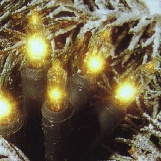 Mini-Lichterkette 80er klar - grün 15, 8m innen/außen 441-55