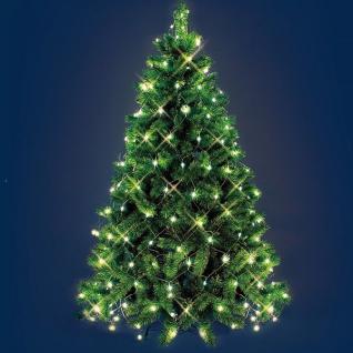 LED Weihnachtsbaum-Lichternetz 195er warmweiß Kabel grün außen Lotti 17740 xmas