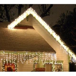 LED Eisregen Lichterkette 240er 6m warmweiß-weiß aussen FHS 14445