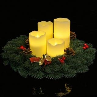 4er LED Echtwachs-Kerzen-Set weiß Fernbedienung innen HI 55015 xmas