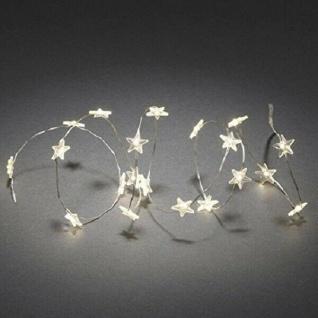 LED Dekolichterkette 40er Sterne warmweiß Funkeleffekt Batteriebetrieb 3139-103