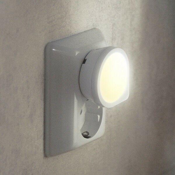 LED Nachtlicht Dämmerungssensor Orientierungslicht Steckdose 357 12