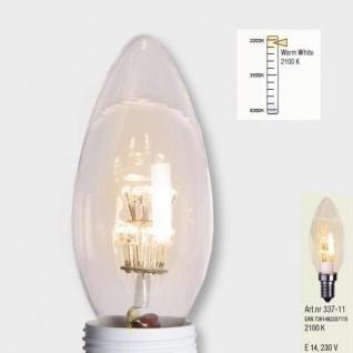 Decoration LED Glühbirne E14 2100K 230V warmweiß Kerzenform Leuchtmittel 337-11