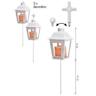 LED Grableuchte Grablicht Lichtsensor Wechselspitze weiß außen 068-88