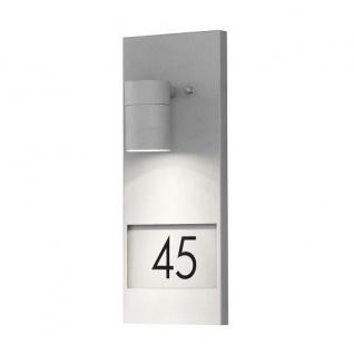 Aluminium Halogen Hausnummernleuchte grau Konstsmide 7655-300