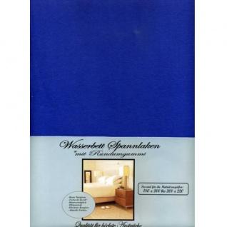Wasserbett Spannbettlaken Spannbetttuch 180-200x200cm royal blau