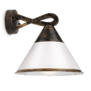 Alu Wandaussenlampe Fig schwarz/gold patiniert Philips 172594216