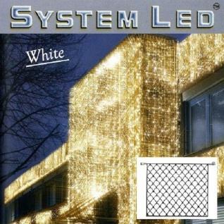 System LED Lichternetz 192er 3x3m warmweiß Kabel weiss außen 466-16-33 xmas