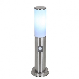 LED Edelstahl Sockelleuchte SALZBURG E27 Bewegungsmelder Lutec ST022-450-PIR