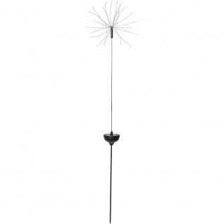 LED Solarstab FIREWORK schwarz 90er warmweiß 100x26cm außen 480-56