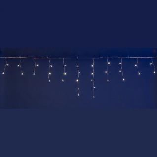 PLB Funktions-System LED Eisregen-Lichterkette 20m x 0, 5m im Set inkl. Trafo