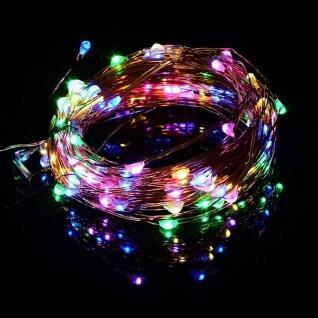 100er FB LED Lichterkette Kupferdraht bunt Timer außen dimmbar Batterie BA11286